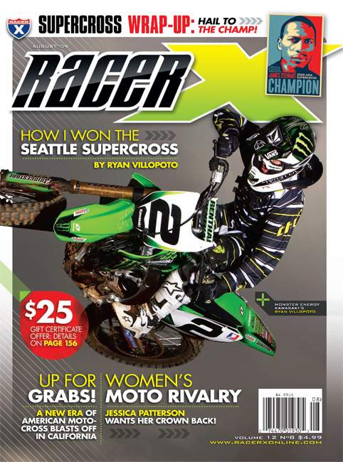 The August 2009 Issue - Racer X Illustrated Motocross Magazine