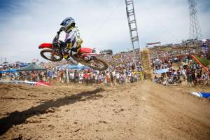 Justin Barcia has been a constant presence at the front of the pack, except for the second moto at Hangtown