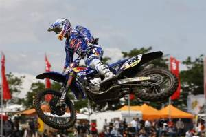 Cairoli is the man right now in the MX1 class and even he admits that he is surprised at how well he's doing. His riding style is very compact and not a lot of wasted energy.