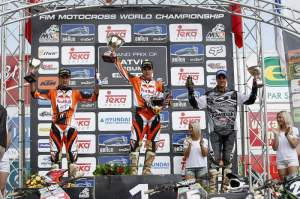 The MX2 podium