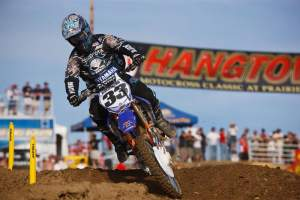 "Josh won the thrilling second moto at Hangtown, but then was docked a spot for jumping on the new ""no-jump"" flag"