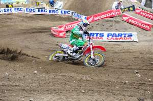 Lamay joined the DNA Energy Drink/BTOSports.com BBMX Honda team at the Seattle supercross