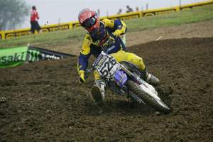 Lamay got the opportunity to ride for the JGRMX/Toyota Yamaha team at Steel City in 2008. He finished 15th.
