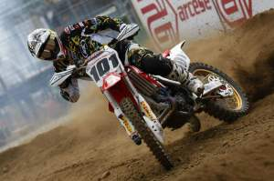 In his second week since coming off of the couch, Mickael Pichon was fifth in the first moto, beating Josh Coppins and Antonio Cairoli. He was seventh overall.