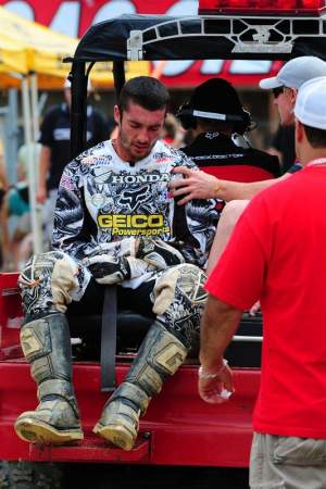Dan Reardon was having a banner year in the 450s before crashing and injuring his shoulder.