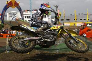 Ken Roczen became the youngest rider ever to win a GP with a 2-2 score at 15 years of age.