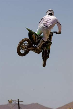 From a distance, this may look like Ryan Villopoto, but it's actually Steve Cox.