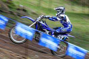 Champion testing the 2010 Yamaha YZ250F at Washougal.