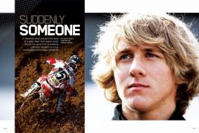 GEICO Powersports Honda's Justin Barcia was relatively unknown leading up to his AMA Pro Motocross debut, but that changed in a single gate drop. Billy Ursic gets you up to speed on the #151 fast kid. Page 156.