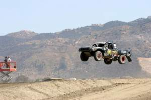 Brian Deegan has been enjoying his new career in off-road truck racing