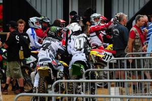 Ever think you'd see Ricky Carmichael and Jeff Emig side by side at a race again?