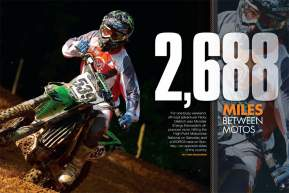 Most of us couldn't imagine racing a round of the Lucas Oil AMA Pro Motocross Championship one day and a WORCS off-road race the next, but Ricky Dietrich did just that—on opposite sides of the country! Page 132.