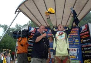 ... and then waved goodbye at Millville after his 150th career win in 2007
