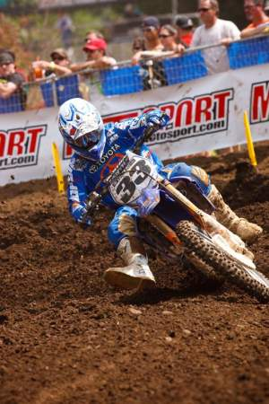 Grant has been twisting the throttle hard this season, and may have been limited by the slick Washougal soil