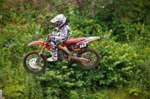 The biggest difference Alex noticed was the power of the GEICO Powersports CRF250R.