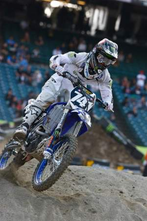 Nate Adams tried to qualify at Anaheim 1, but a missed shift before a triple ended his bid