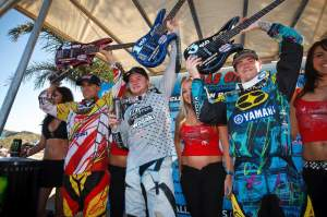 Not long before this photo, none of these guys had won outdoors on a 450.