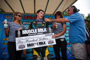 Kyle Regal's strong second moto performance in the 450 class at Millville earned him the Muscle Milk Recovery Award.