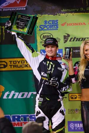 Ryan sat on the fringes of victory several times this supercross season