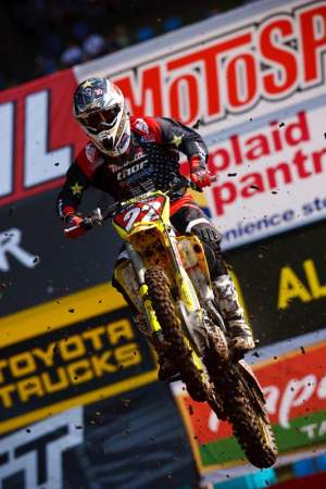 Chad Reed blew by Grant like he was sitting still to take the lead in moto 2
