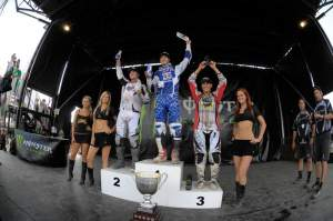 The champion Colton Facciotti on the top step after winning the race but the greatest victory for him would be the next pic...
