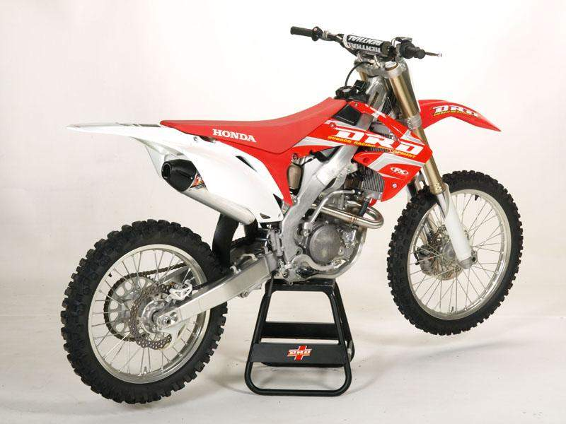 2010 crf250r drd exhaust system racer x online. Black Bedroom Furniture Sets. Home Design Ideas
