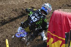 Broc Tickle put in a strong ride despite poor starts to finish fifth overall.