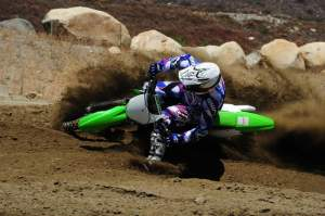 Steve Cox enjoys being on the other side of the lens on the 2010 KX450F