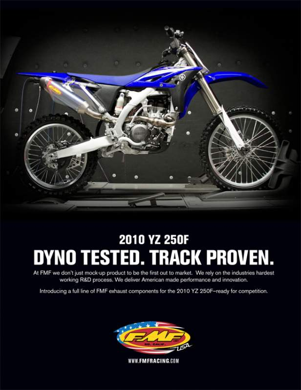 2010 Yamaha YZ250F FMF Pipes