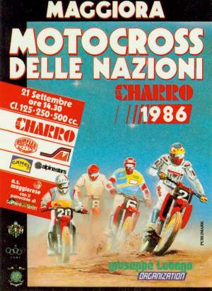 The '86 Motocross des Nations was in Maggiora, Italy