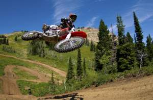 Natural elevation like this is a dream come true for motocross racers