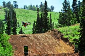 Jeremy McGrath had a blast on the numerous step-ups