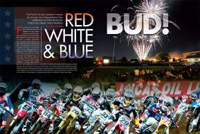 The American Motocross Classic known as RedBud marked the halfway point of the 2009 Lucas Oil AMA Pro Motocross Championship. DC and some of the best shooters in the sport take you there. Page 124.