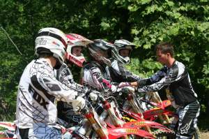 Matt Walker gives the Racer X crew a lesson between motos