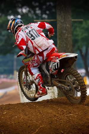 Here's Taylor before the rain came at Budds Creek. It was his first pro national, and he went 23-8.