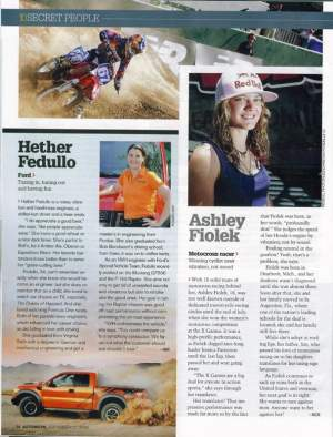 Here's a clip of Ashley in Autoweek, courtesy of Ben Johnson