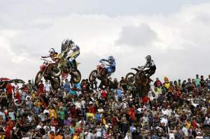 Though the rider turnout was smaller, the Brazilian crowd was huge.