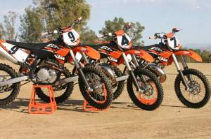 The 2010 KTM 150SX, 250SX, and 450SXF