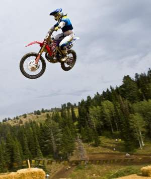 David Pingree airs out one of Powder Mountain's leaps.