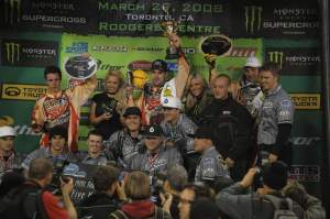 In what might be a highlight for the BBMX team, they swept the Lites podium in Toronto at the 2008 race.