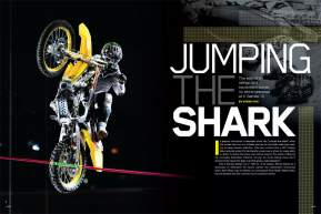 Combining athleticism, skill, and innovation, freestyle mx was once the highlight of ESPN's X Games. Now dirt bikes are making highlights for the wrong reasons. Steve Cox wonders if it's gone too far. Page 132.