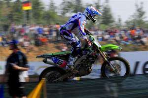 Gautier Paulin led the second moto from start to finish.