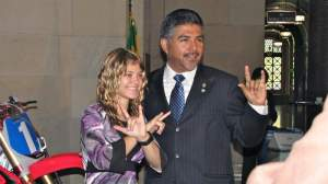 Ashley with L.A. City Council Member Tony Cardenas.