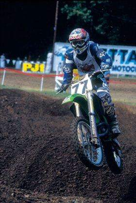 Andy Bowyer and his KX250