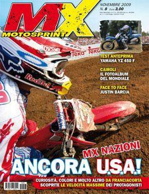 Ivan Tedesco's excellent ride at the Motocross of Nations landed a cover in Italy on Moto Sprint magazine, as shot by our friend Alex Boyce.