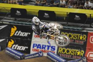 Christian Craig was there running JGR graphics on his YZ450. He was great in night one with a fifth place.