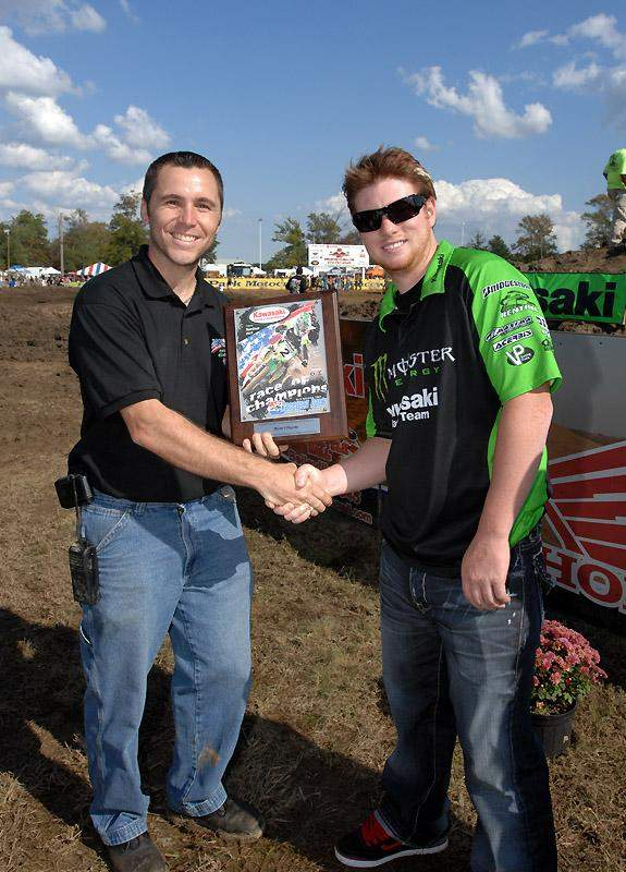 Ryan Villopoto was the guest of honor at the Kawasaki sponsored event.
