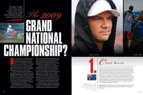 In the early 1980s, points from supercross and motocross were combined to decide that year's Grand National Champion. Jason Weigandt dusts off the calculator and tallies up the hypothetical '09 results. Page 122.