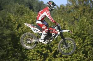 Michael Hall is riding for Husqvarna but recently hit the deck.