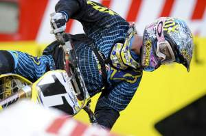 After five years off, this was actually Lusk's first supercross race on a four-stroke.
